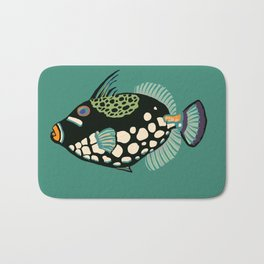 Oriental triggerfish Bath Mat