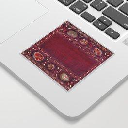 Shakhrisyabz  Southwest Uzbekistan Suzani Embroidery Print Sticker
