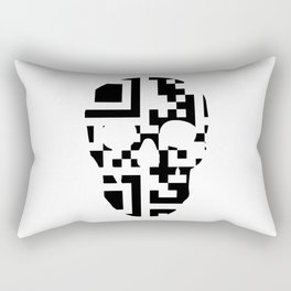 QR-Code Skull Rectangular Pillow