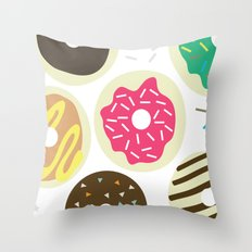 Doughnuts Throw Pillow