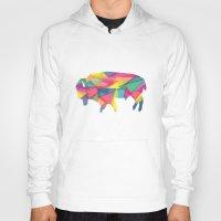 buffalo Hoodies featuring Buffalo by Jake Martin