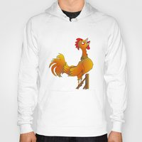 rooster Hoodies featuring Rooster  by mailboxdisco