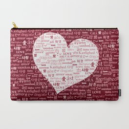 Borderless Love - Red Carry-All Pouch