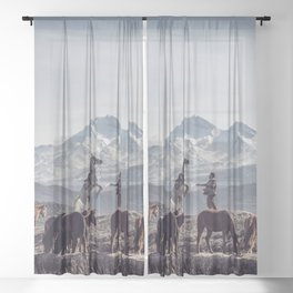 Wild Horses Sheer Curtain