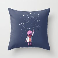 constellation Throw Pillows featuring Constellation by Freeminds