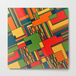 African geometric pattern Metal Print