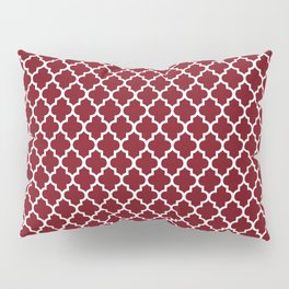 Geometric marsala red white modern quatrefoil pattern Pillow Sham