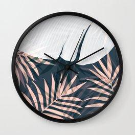 Elegant Palm Trees Foliage Design Wall Clock