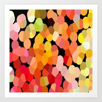confetti Art Prints featuring Confetti by Rosie Brown