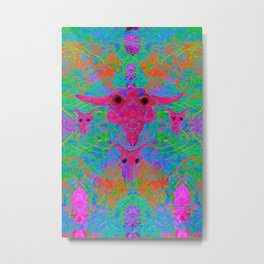 Foliage Predation (abstract, tribal, psychedelic) Metal Print