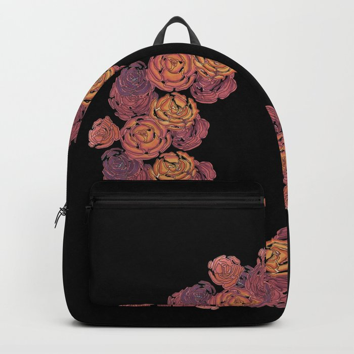 Rosey Rose Wreath, Pink Backpack