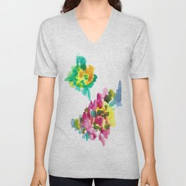 180802 Beautiful Rejection 15 | Colorful Abstract Unisex V-Neck