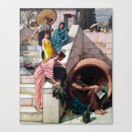 audrey hebpurn + john william waterhouse Canvas Print