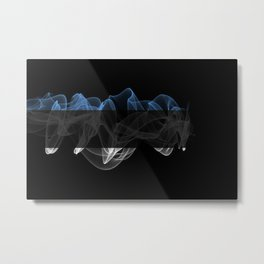 Estonia Smoke Flag on Black Background, Estonia flag Metal Print