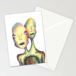 Two Headed Boy Stationery Cards