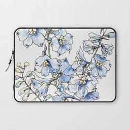Blue Delphinium Flowers Laptop Sleeve