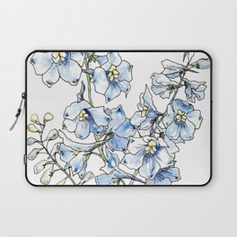 Blue Delphinium Flowers Laptop Sleeve