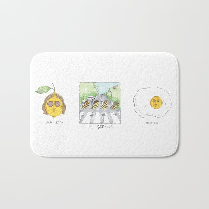 John Lemon the beetles yolko ono Bath Mat