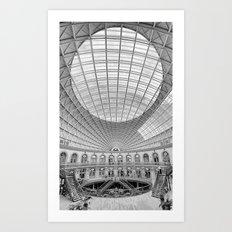 The Corn Exchange Interior In Monochrome Art Print