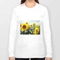 sunflowers Long Sleeve T-shirts featuring Sunflowers by Falko Follert Art-FF77