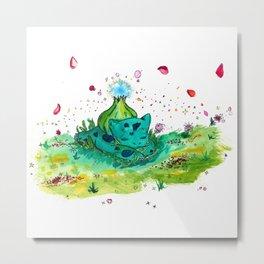 Sleeping Bubblesaur Metal Print