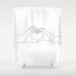 Hand Heart Shower Curtain