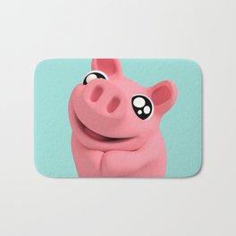 Rosa the Pig looking cute Bath Mat