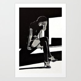 In Shadows Art Print