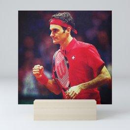 Federer Tennis Swiss Mini Art Print