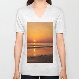 A Golden Gower Sunset Unisex V-Neck