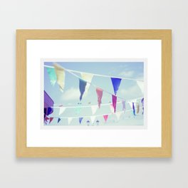 Bunting by the Sea Framed Art Print