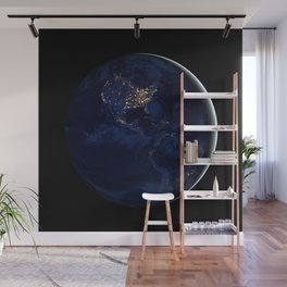 City Lights (Globe) Wall Mural