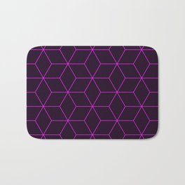 Cube Pattern 01 Pink Bath Mat