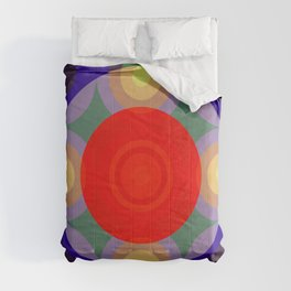 Olloudius - Colorful Abstract Art Comforters