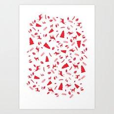 Scandinavian Christmas Pattern Art Print