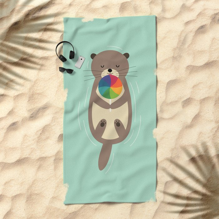 Sweet Otter Beach Towel