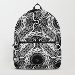 Black and white ornament . Backpack