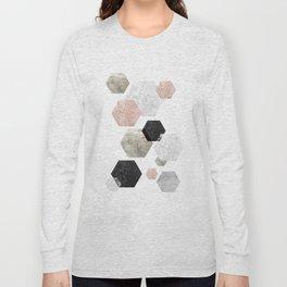 Hexagon Geometric Long Sleeve T-shirt