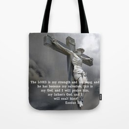 Exodus 15:2 Tote Bag
