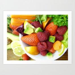 Fruits and Vegetables - Cafe or Kitchen Decor Art Print
