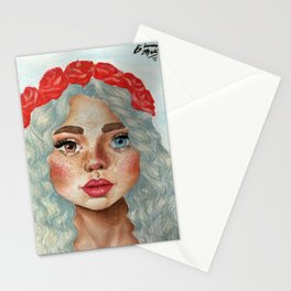 'Girl With Flower Crown' Stationery Cards