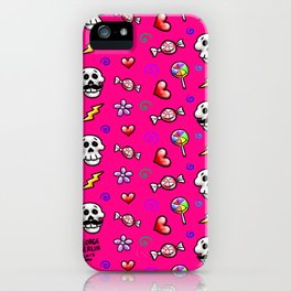 Skulls 'n' Flowers iPhone Case