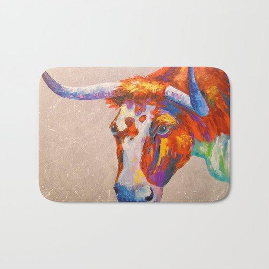 Curious bull, Bath Mat