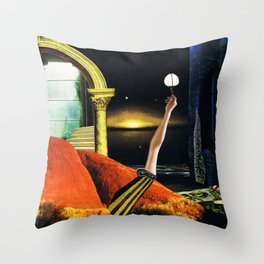 the dreamtime - collage Throw Pillow