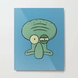 Squidward Metal Print