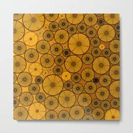 Wood Pile Metal Print