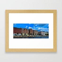 Copenhagen Canal Buildings Framed Art Print