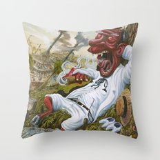 The Devil's Knee Throw Pillow
