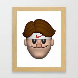 FEDERER EMOJI Framed Art Print