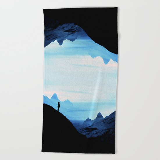 Blue Wasteland Isolation Beach Towel